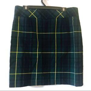 Tommy Hilfiger Green Plaid Skirt plus size 14